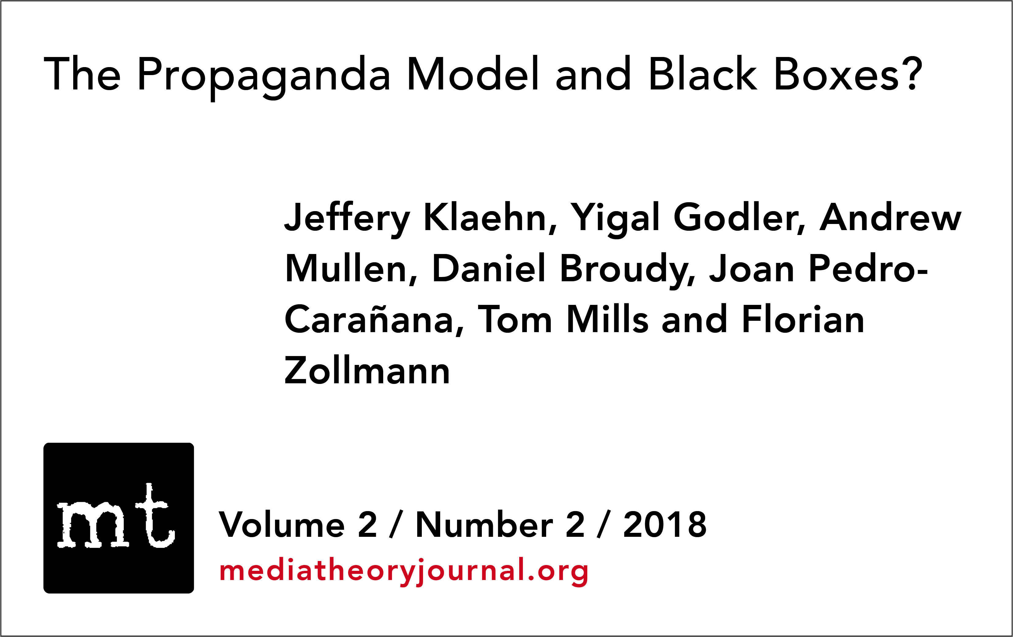 The Propaganda Model and Black Boxes? | Media Theory